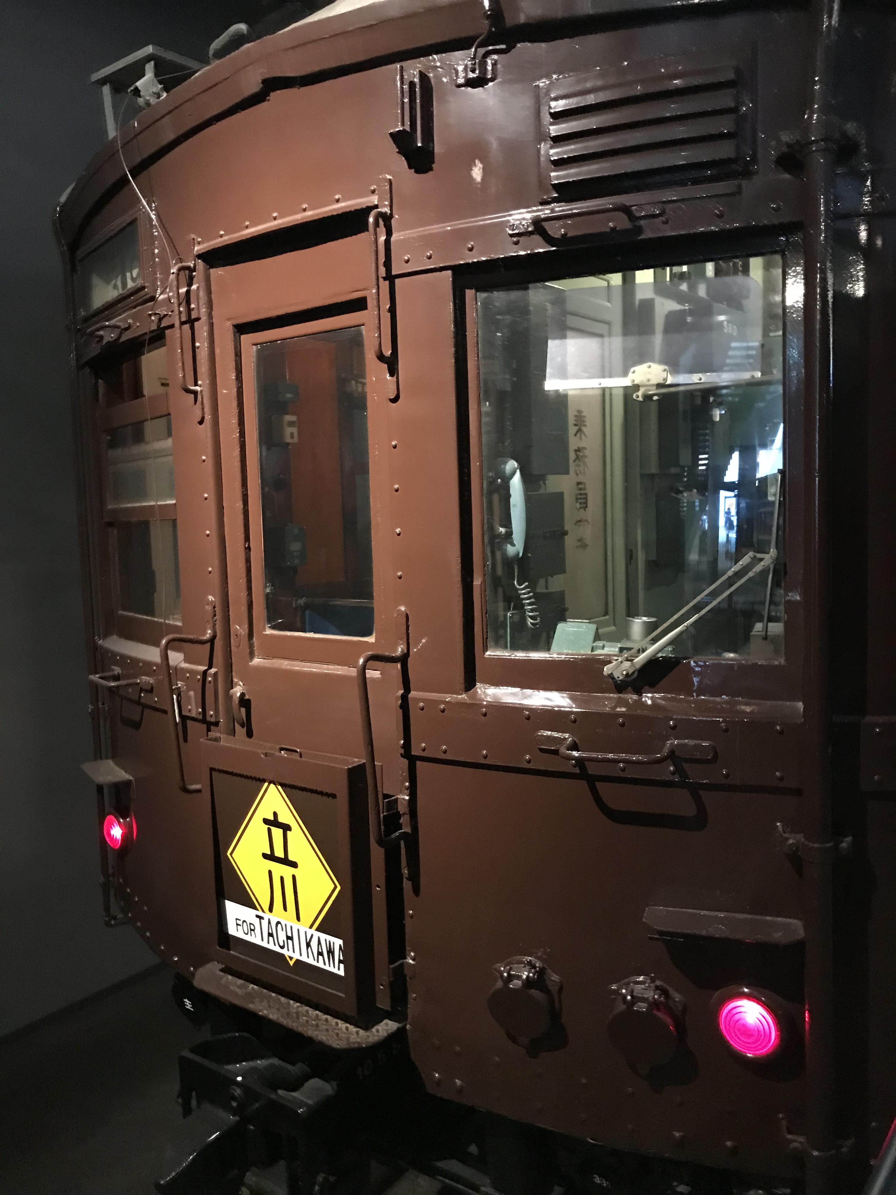 昔の茶色い電車