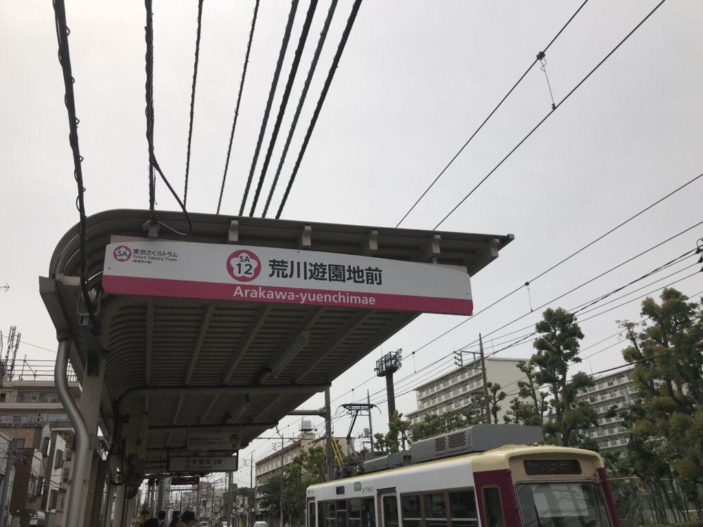 荒川遊園地前駅の駅名標