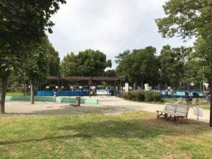 浮間公園のじゃぶじゃぶ池の外観