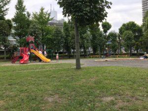 浮間公園の遊具エリア